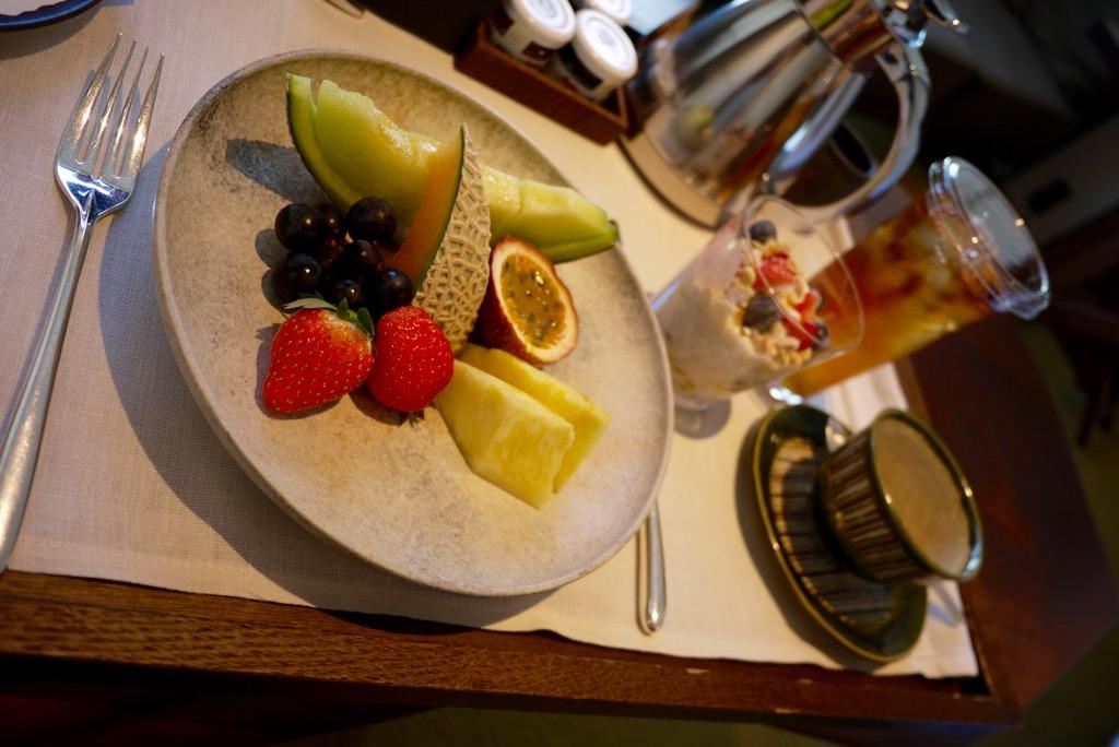Room service breakfast - Andaz Tokyo Toranomon Hills