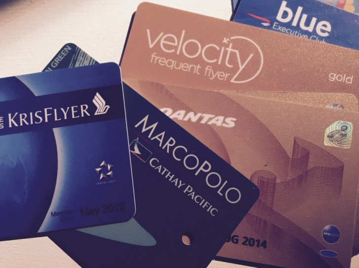 Example of different frequent flyer cards | Point Hacks