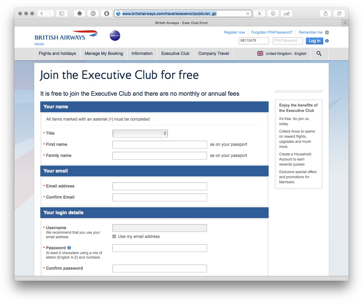 Join BA Executive Club