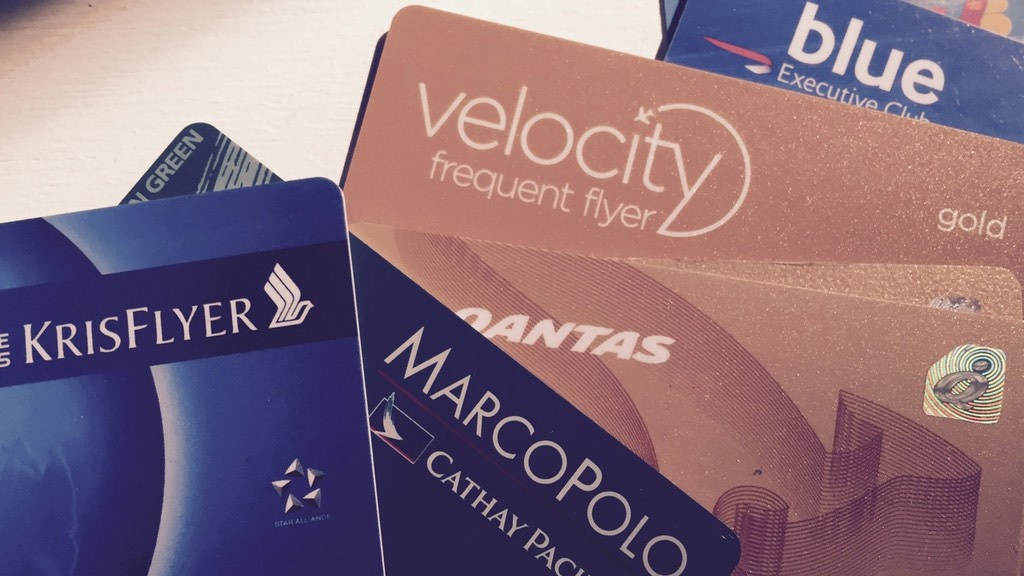Various frequent flyer cards
