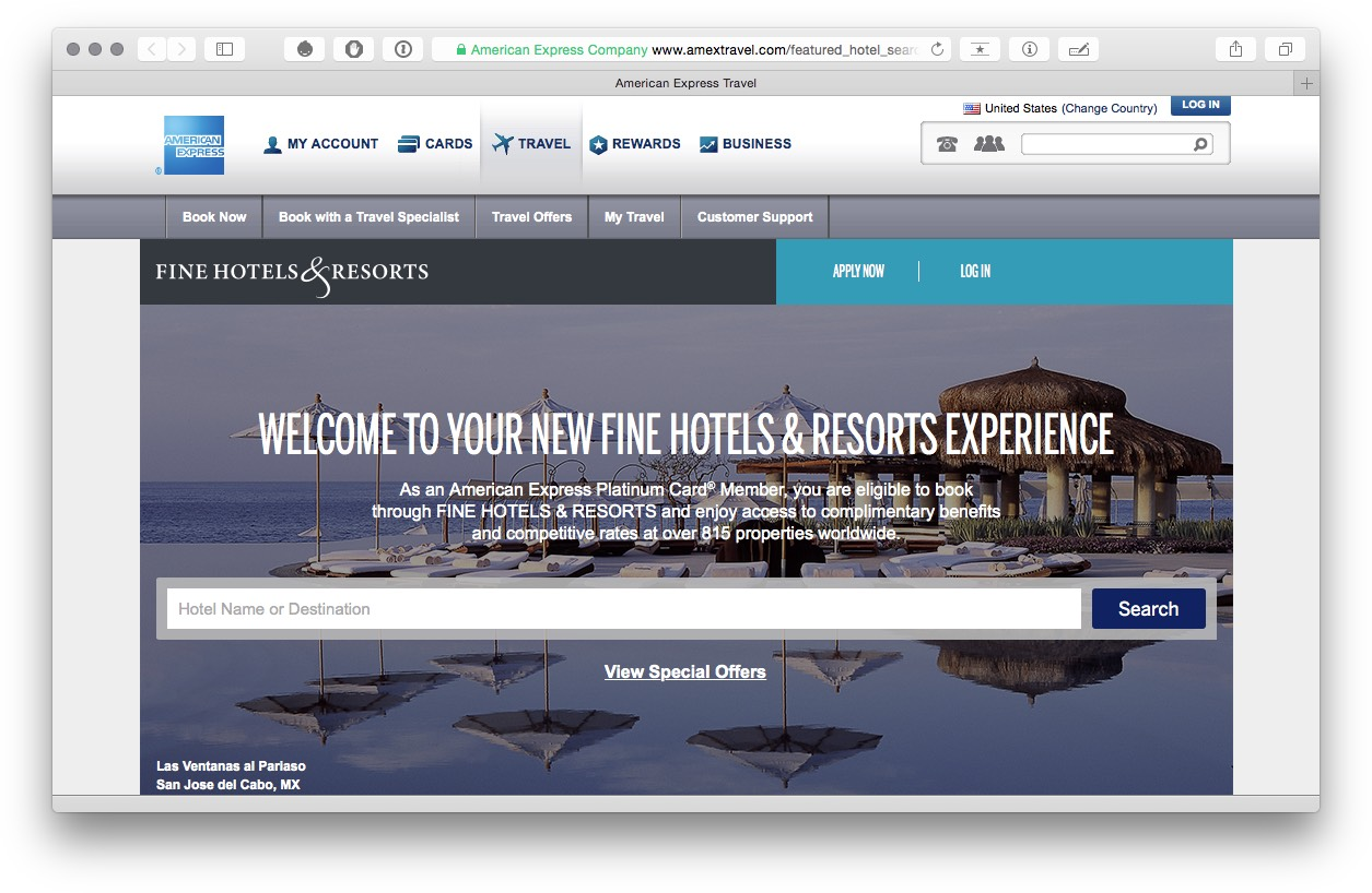 Amex FHR Website