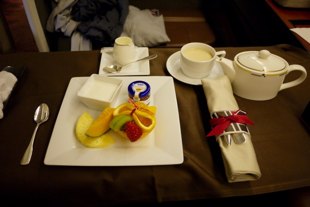 Japan Airlines First Class food