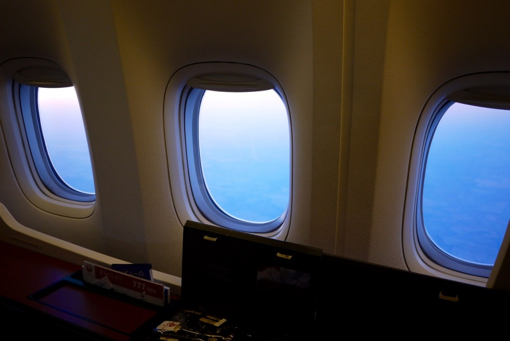 Japan Airlines First Class window