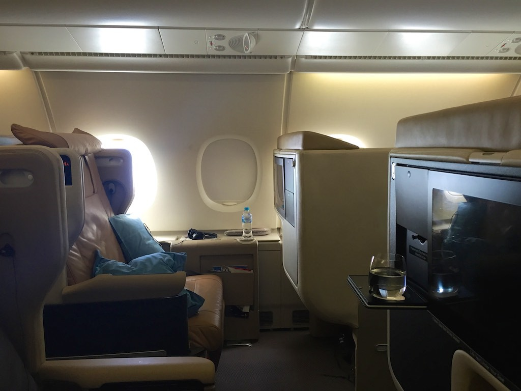 Singapore Airlines A380 Business Class Cabin | Point Hacks
