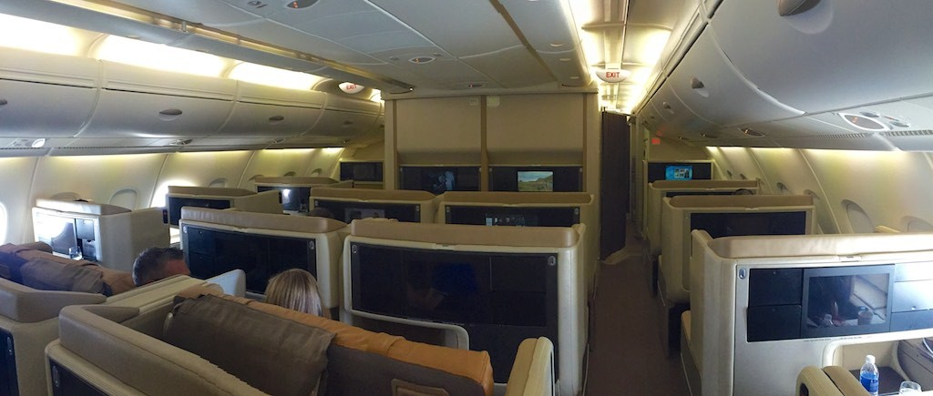 Singapore Airlines A380 Business Class Cabin