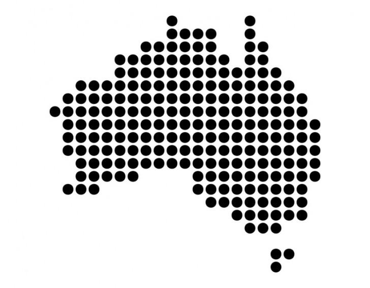 Australia shape dot | Point Hacks
