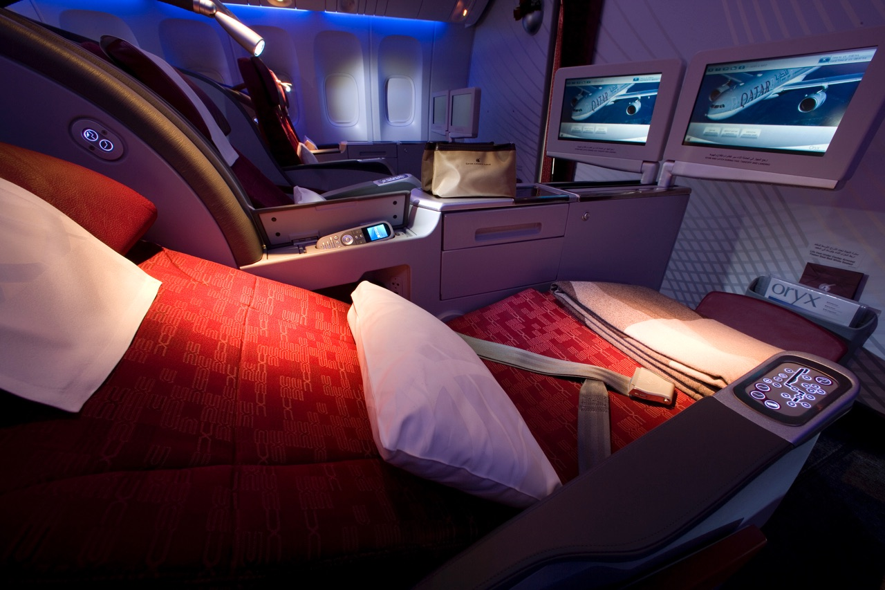 Qatar Airways 777-300ER Business Class 1