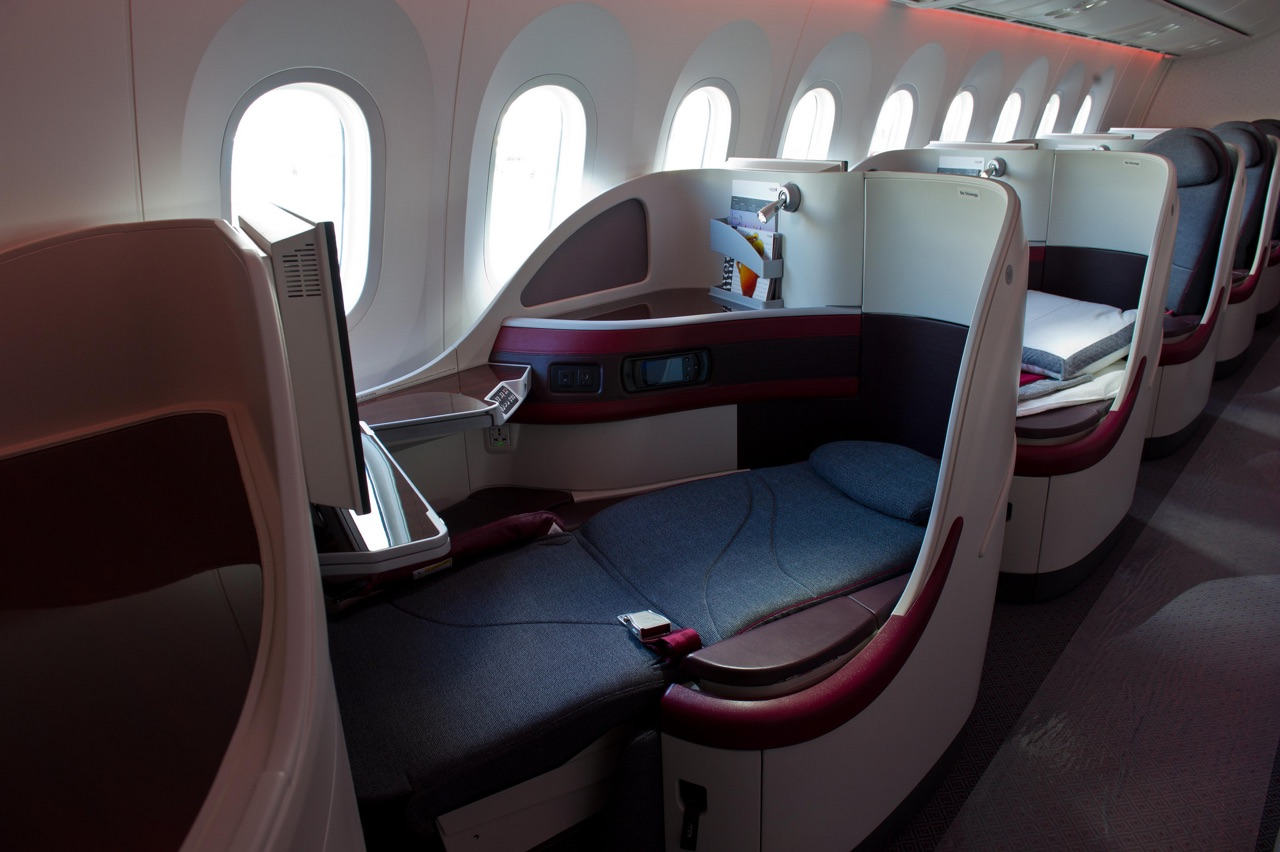Qatar Airways 787 Business Class 1