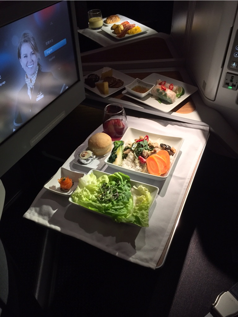 AA 777 300ER  First Class Food