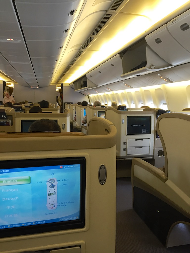 Singapore Airlines 777-300 Business Class Cabin - SQ211 Business Class (3) | Point Hacks