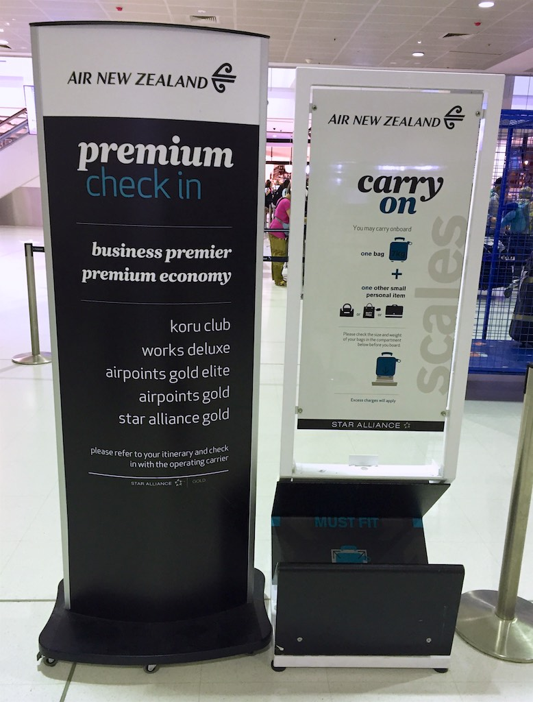 Air New Zealand Premium Economy check in