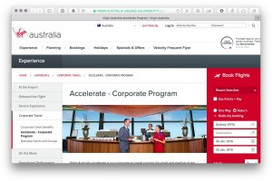 Guide to Virgin Australia's Accelerate small business loyalty program – includes trial Velocity Gold status for 3 months