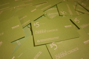 Earn heaps of points by declining housekeeping – how Starwood's 'Make a Green Choice' program works