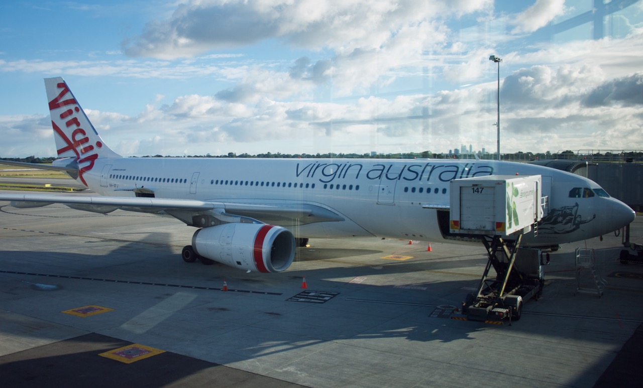 Virgin Australia plane on tarmac