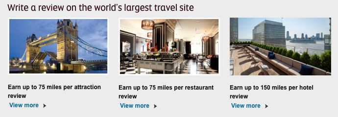 Etihad Guest TripAdvisor different earn rates