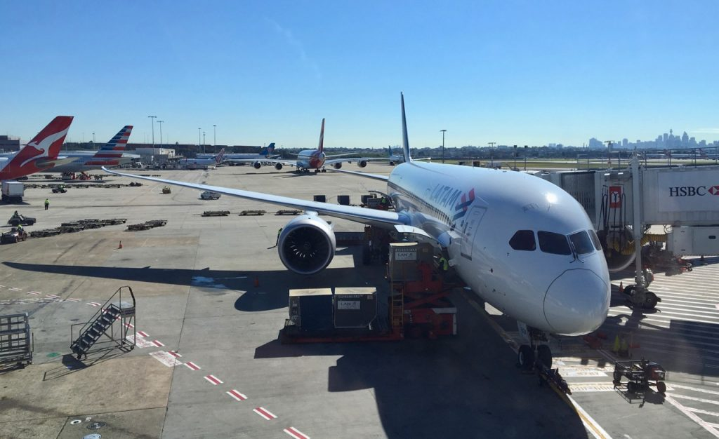 LATAM Boeing 787 Dreamliner on tarmac in Sydney