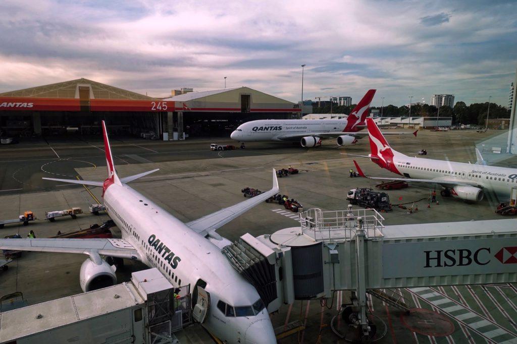 Qantas Domestic Business Lounge Sydney view | Point Hacks