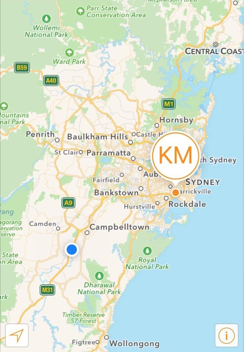 Hertz Qantas Business map