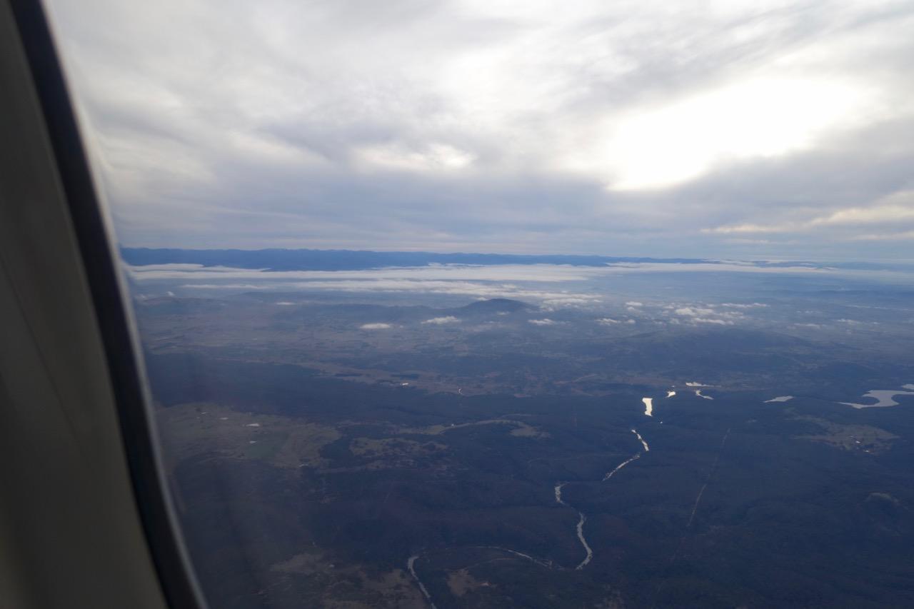 View descending toward Canberra