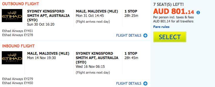 Flight Deal SYD-MLE