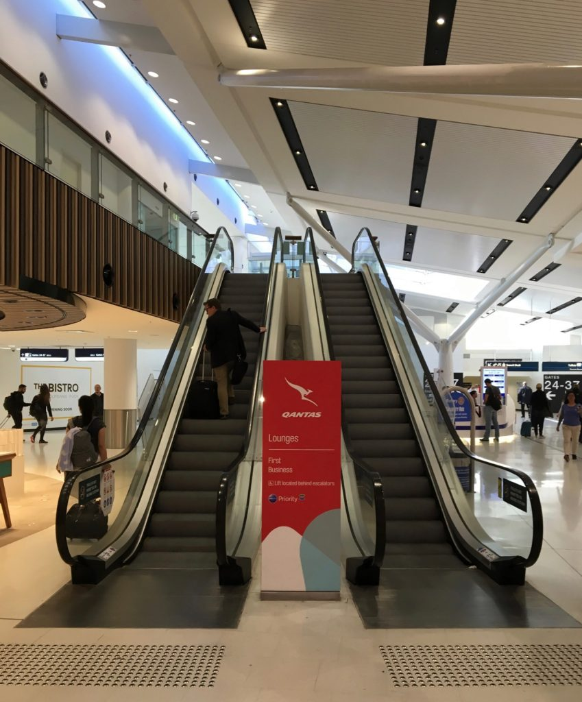 Qantas Business Lounge entrance