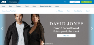 ANZ's Bonus Points Mall is a useful benefit for ANZ Rewards cardholders who shop online