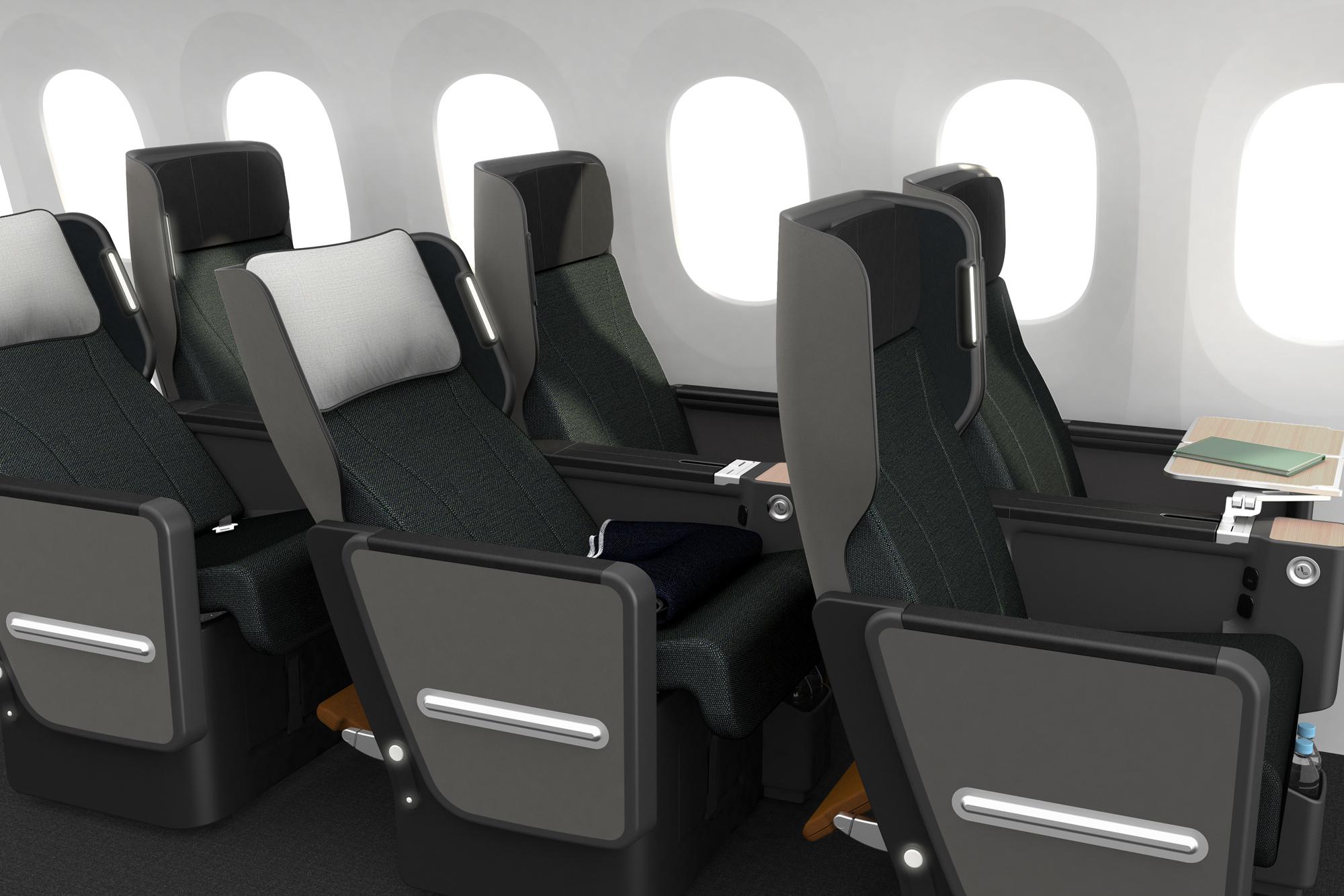 Qantas 787 Premium Economy seat