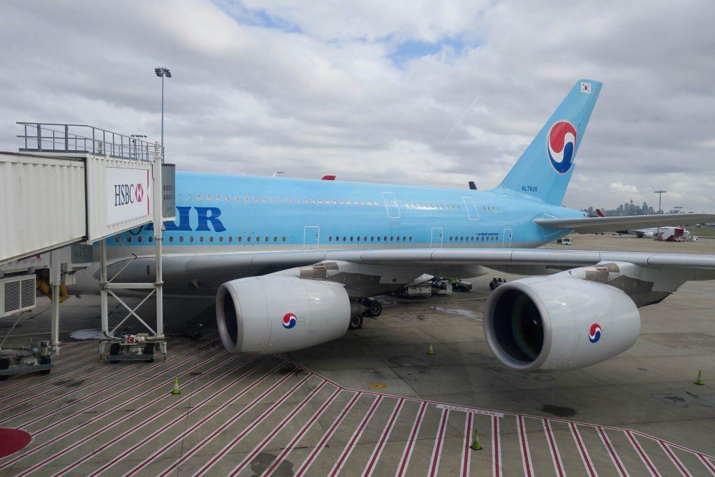 Korean Air A380 at Sydney Airport