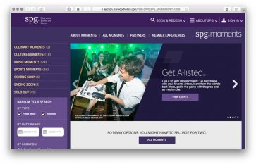 How to redeem Starpoints (and Amex Membership Rewards points) for once in a lifetime events using SPG Moments