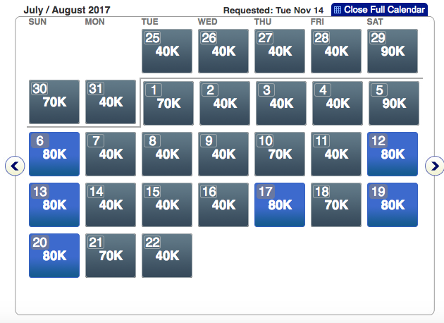 American Airlines award availability flight
