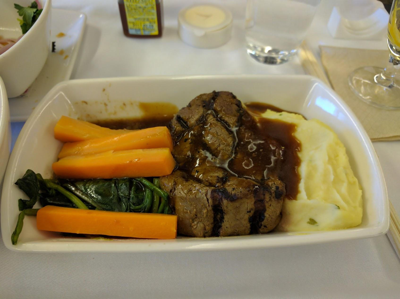 Cathay Pacific CX451 Beef Tenderloin