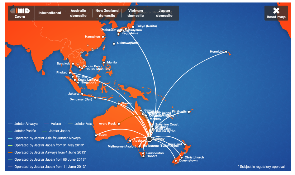 How To Redeem Qantas Points For Jetstar Flights Point Hacks - Japan jetstar map