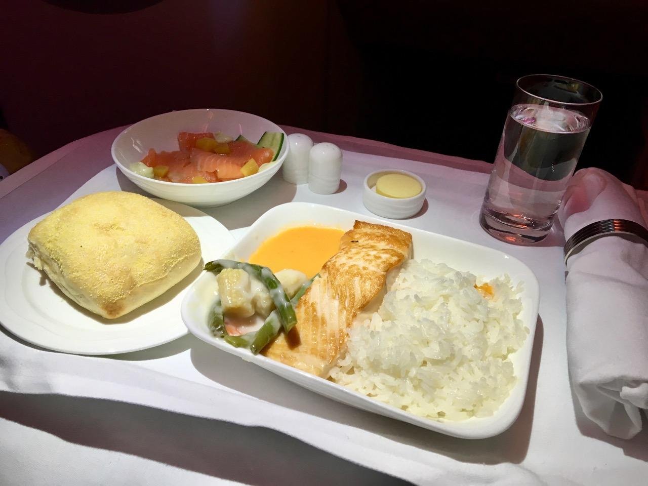 Emirates A380 Trans-Tasman Dining