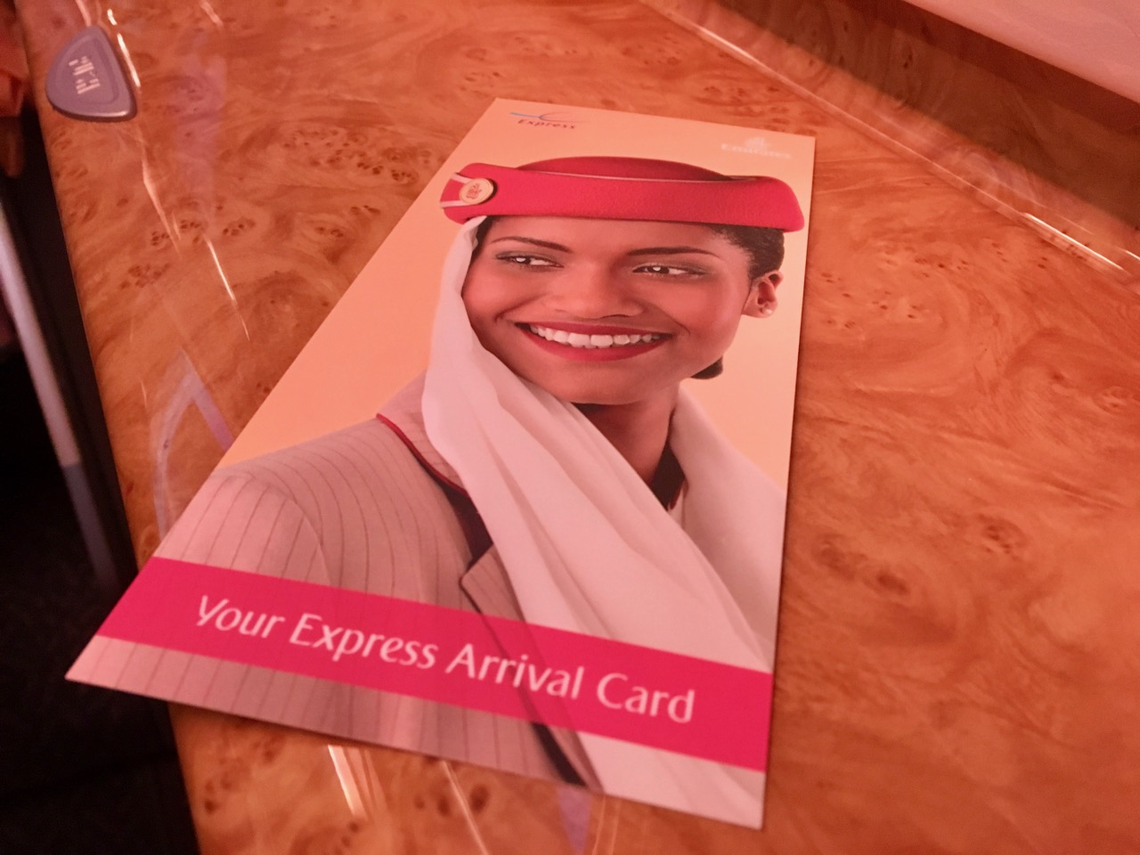 Emirates Express Arrivals Card