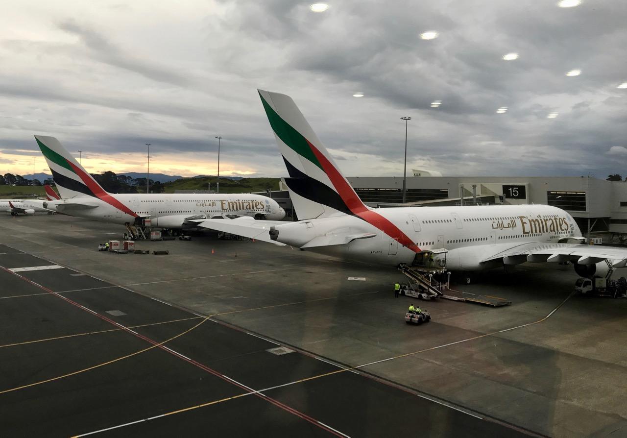 Emirates plane on tarmac