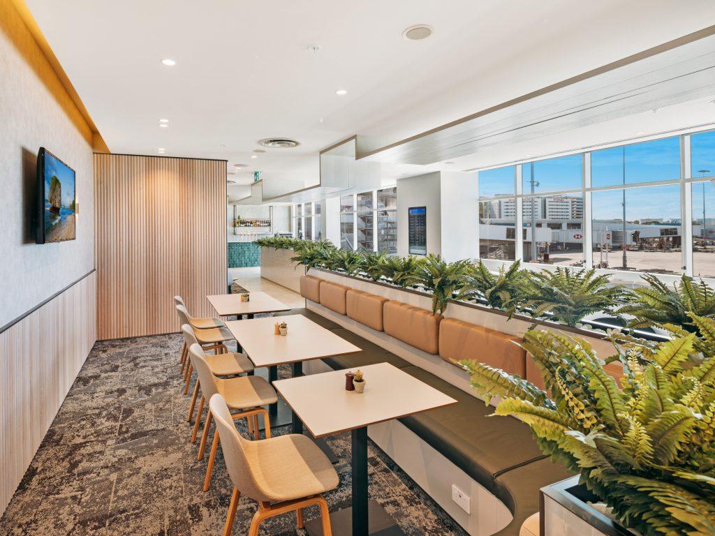 Plaza Premium Lounge Sydney seating
