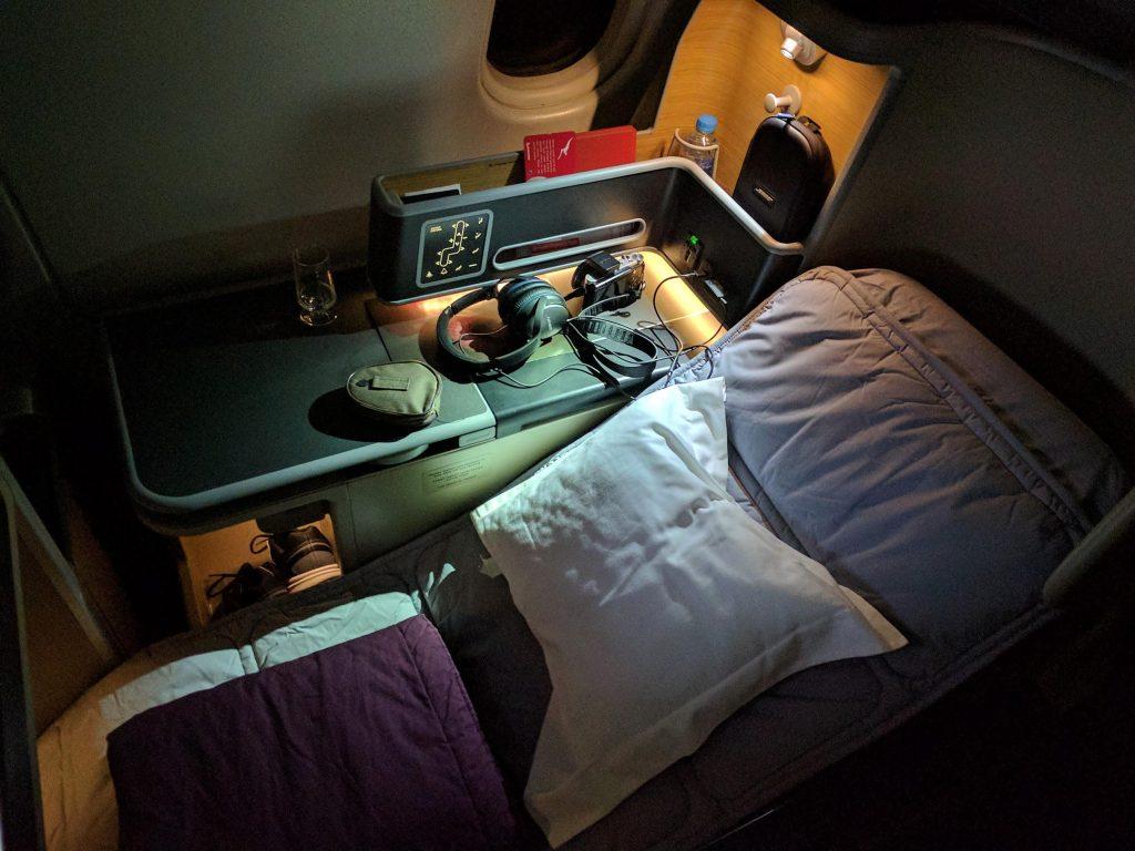 Qantas Business Class Perth to Auckland