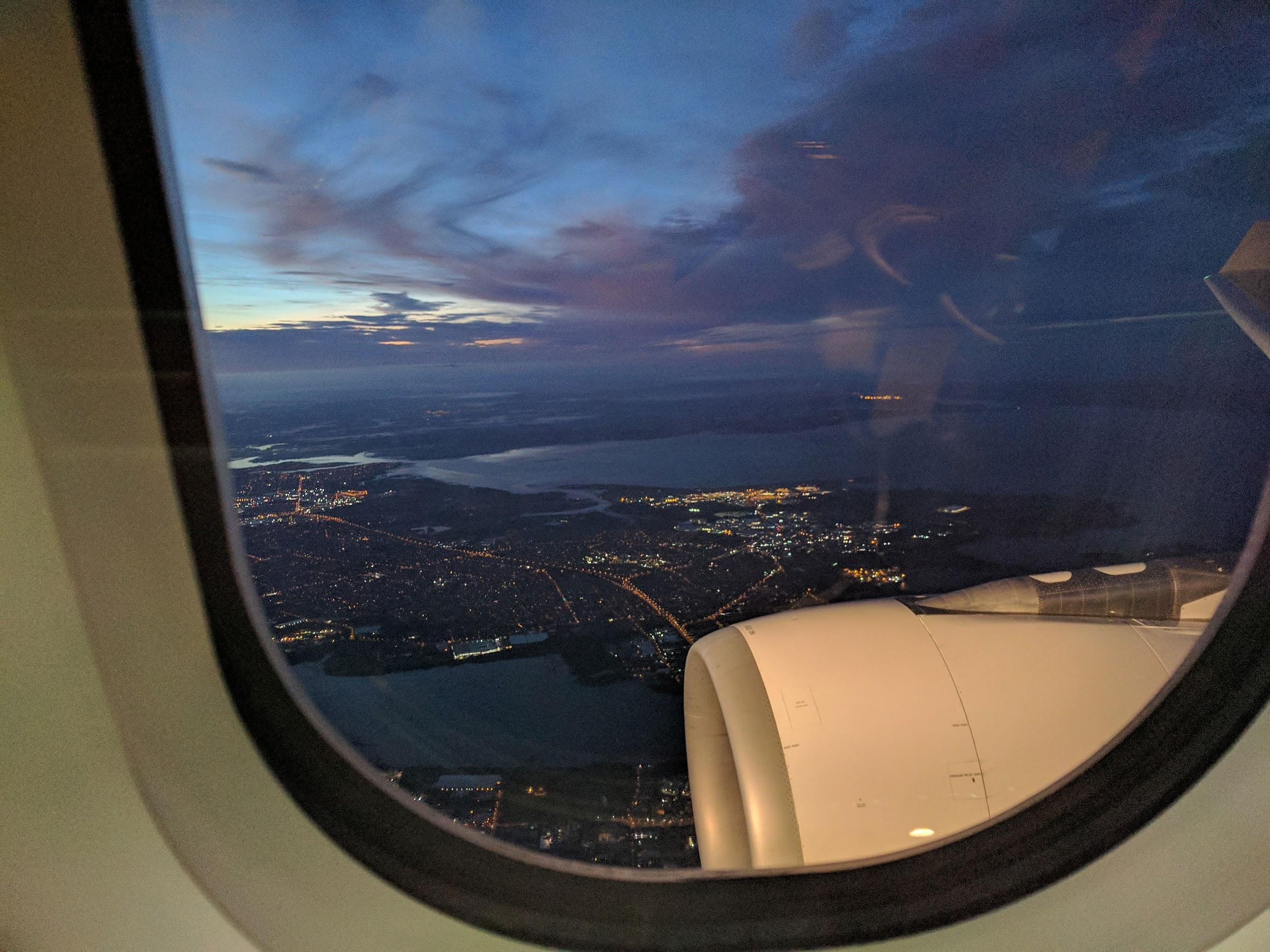 View approaching Auckland
