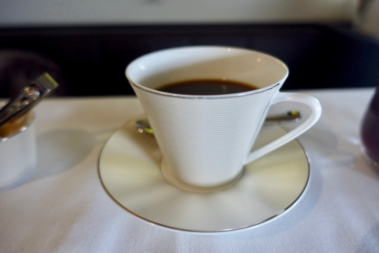 Etihad A380 First Class Apartment coffee