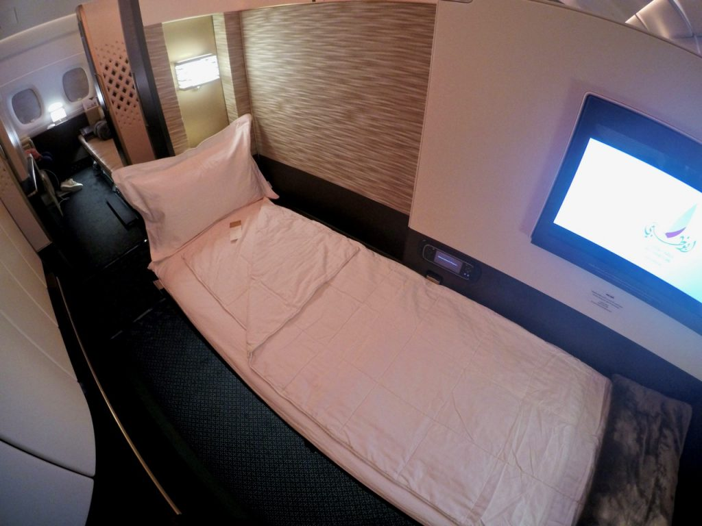 Etihad A380 First Apartment bed