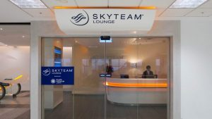 SkyTeam Sydney Lounge overview