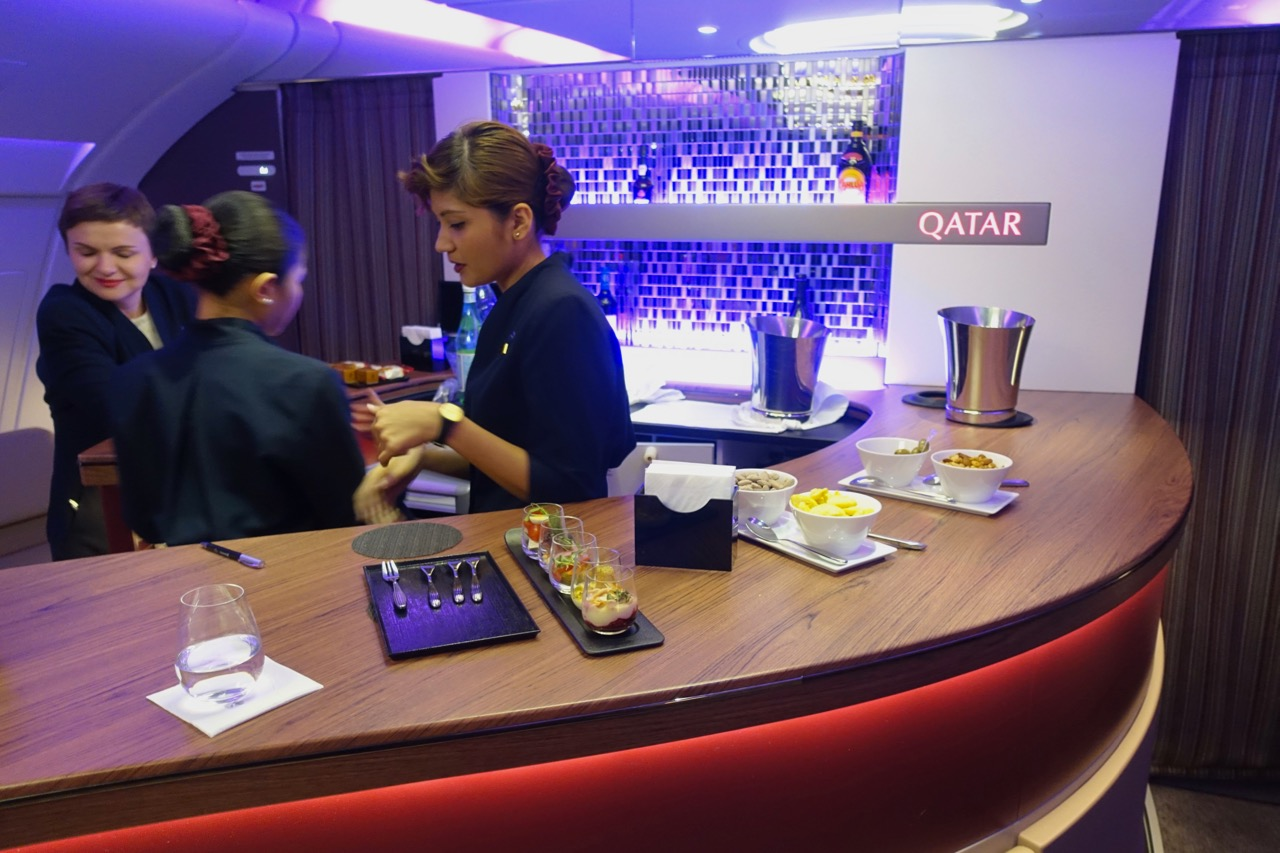 Qatar Airways A380 onboard bar
