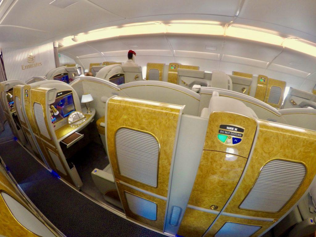 Emirates A380 First Class cabin