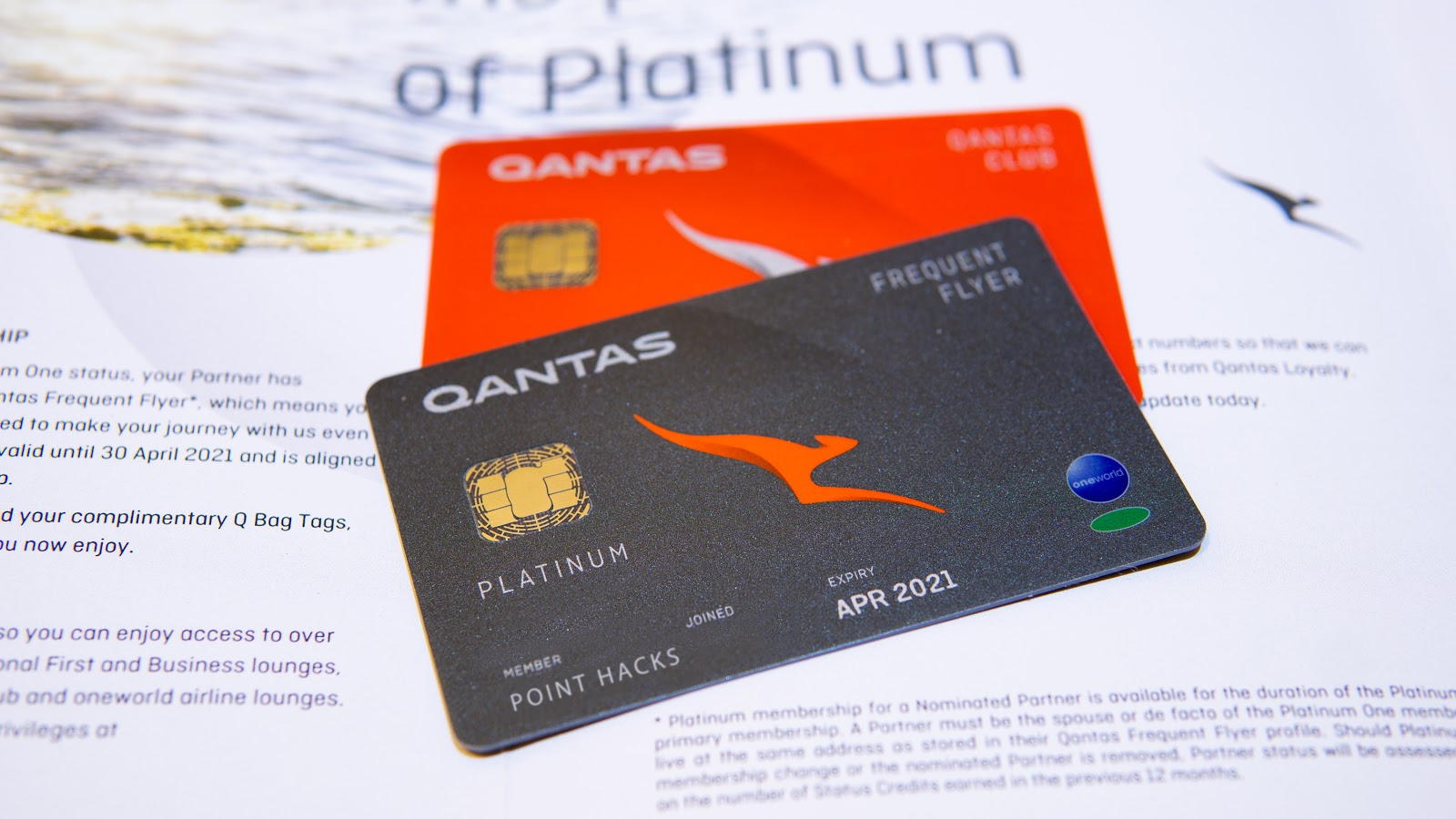 Qantas Platinum card