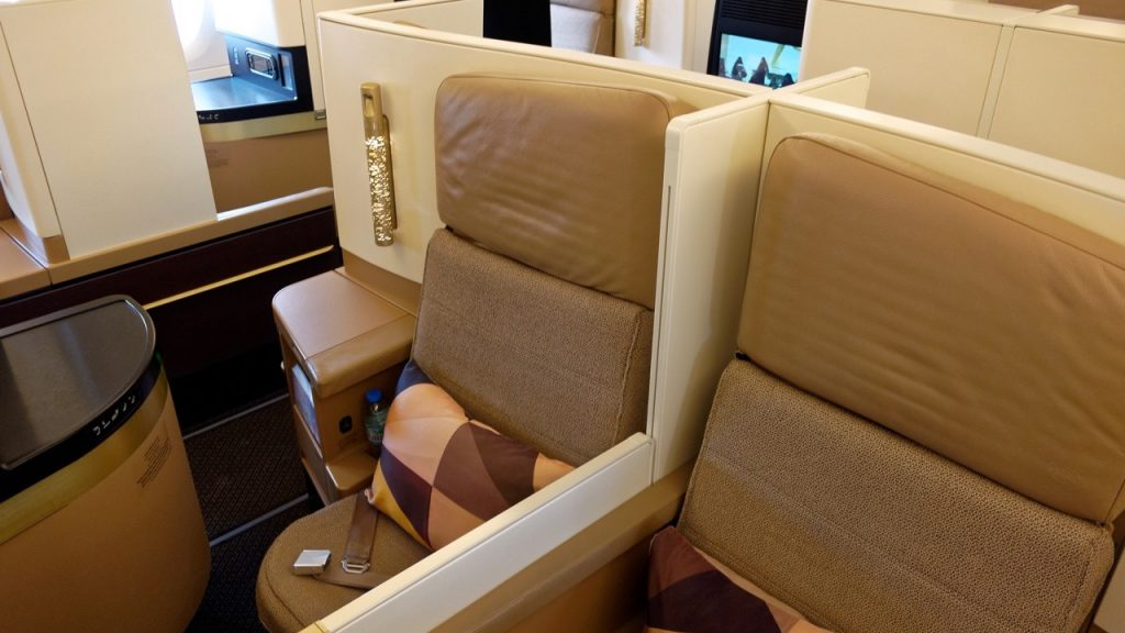 Etihad A380 Business Class seats
