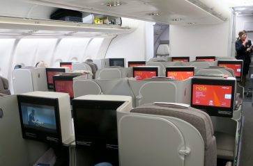 Iberia A330 Business Class overview