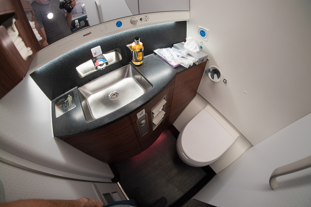 Qatar Airways A350 Business Class lavatory