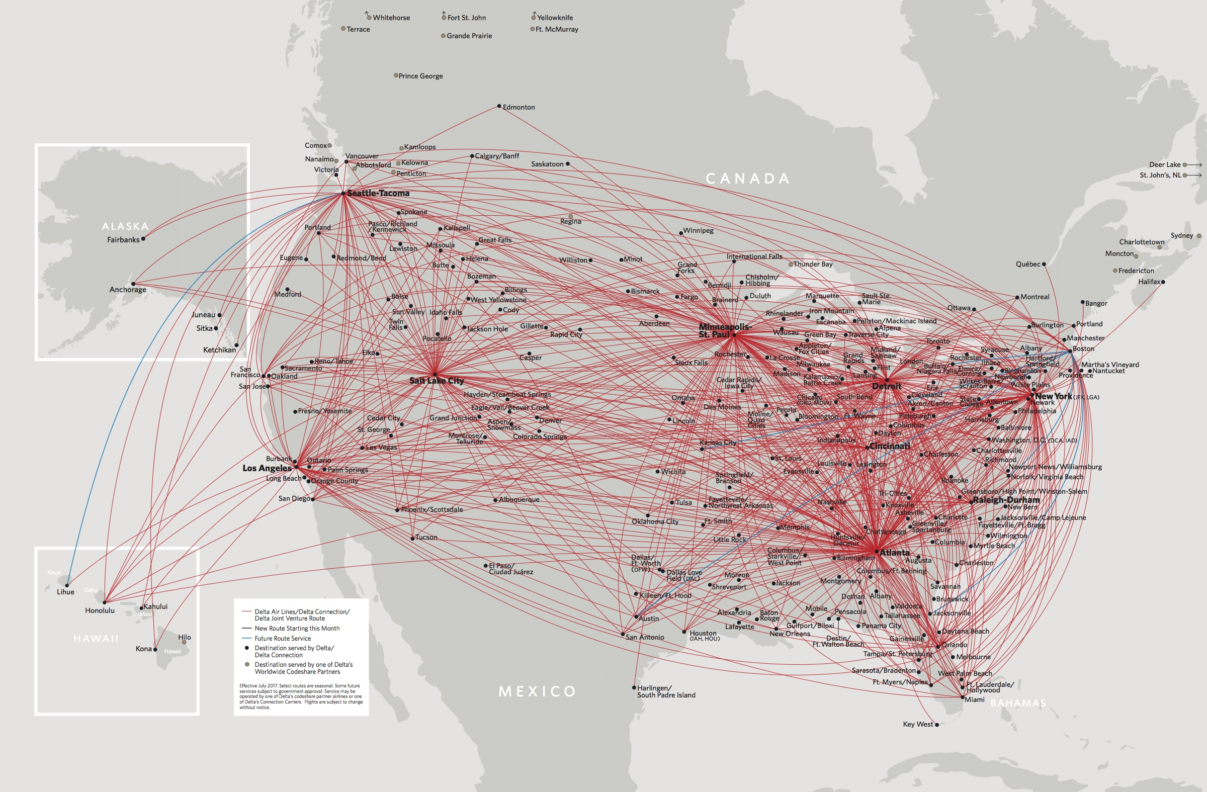 Delta Domestic First Class Overview Point Hacks Nz - Us-airline-hubs-map