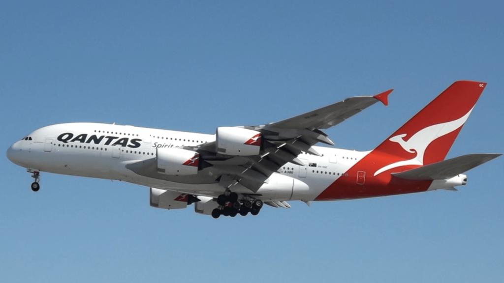 Qantas Airbus A380 in the air