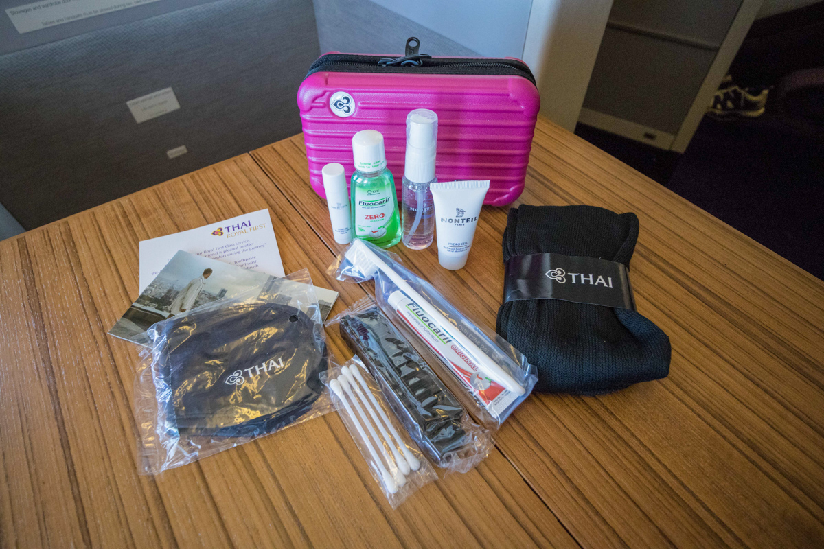 THAI Airways First Class amenity kit